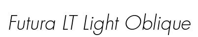Futura LT Light Oblique