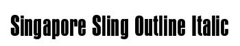 Singapore Sling Outline Italic