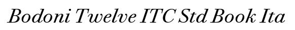 Bodoni Twelve ITC Std Book Ita